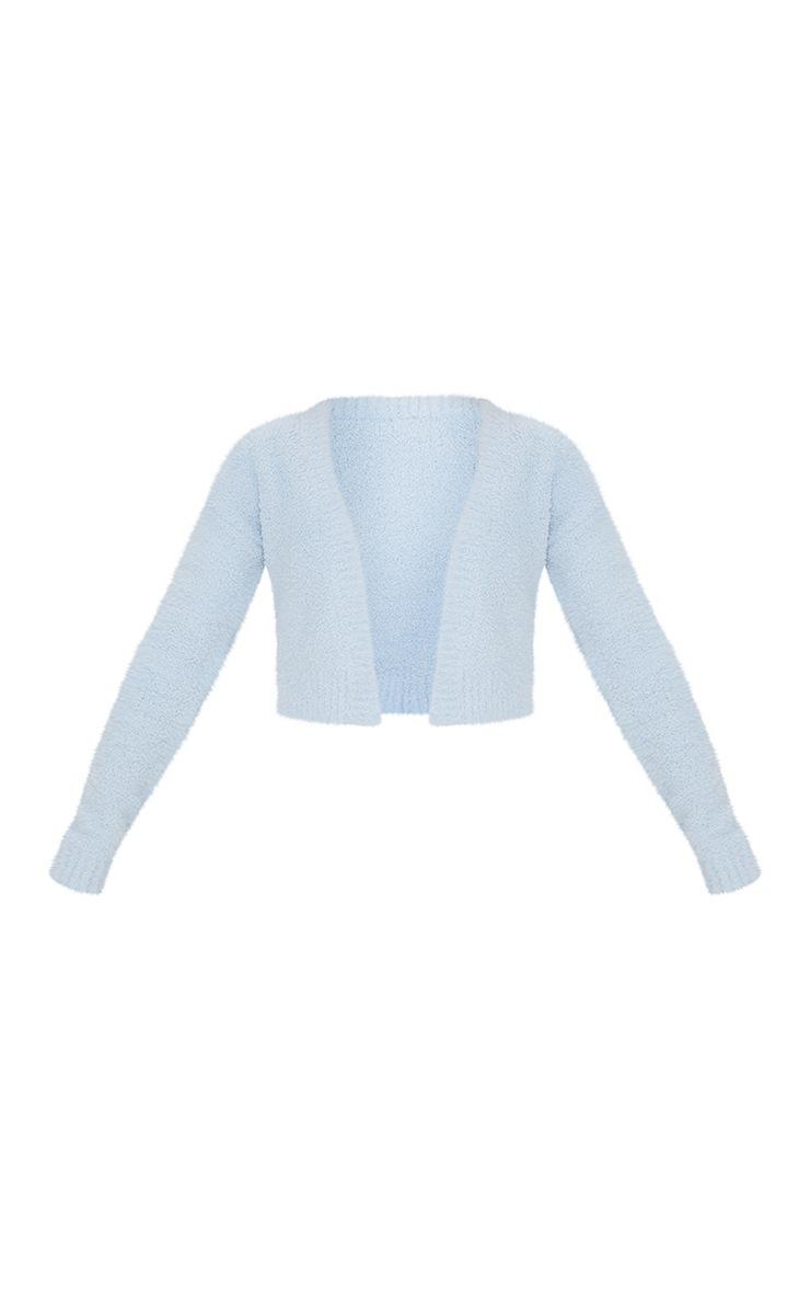Gilet Premium bleu ciel fluffy 5