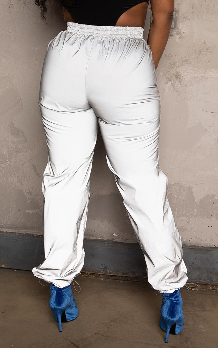 Silver Metallic Reflective Sweat Pants 4