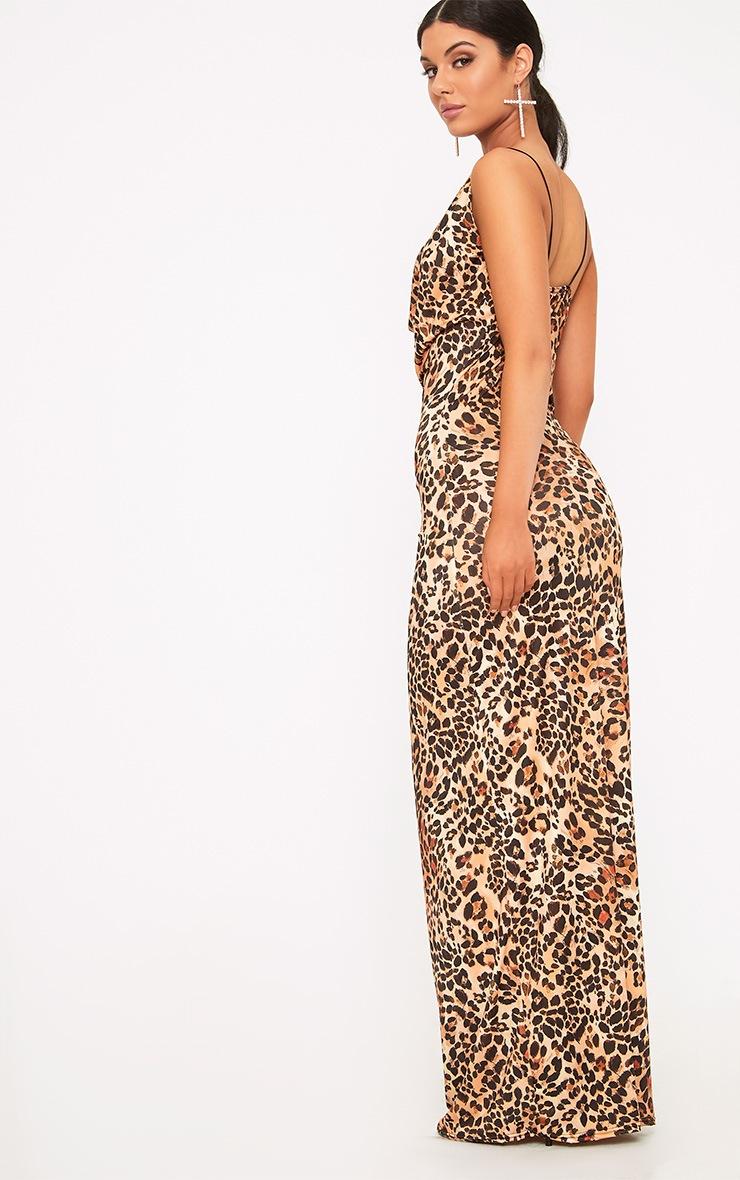Silva Leopard Print Cowl Neck Maxi Dress 2