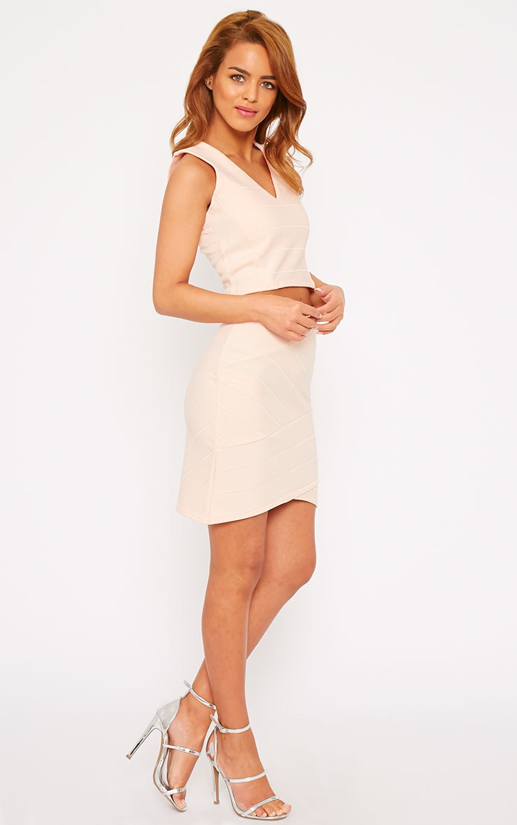 Kirsten Nude Bandage Mini Skirt 5