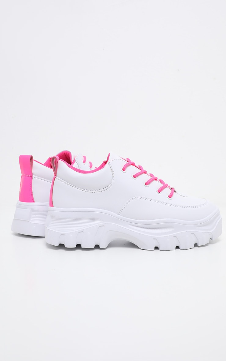 Neon Pink Chunky Cleated Sole Trainer 4
