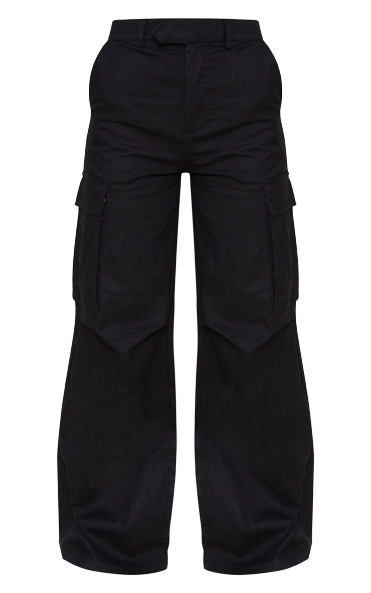 Black Wide Leg Cargo Pants 3