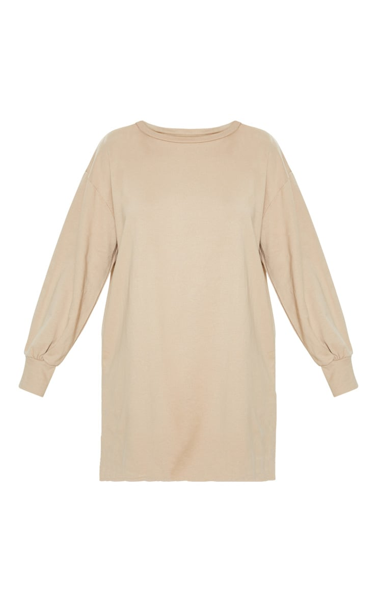 Stone Oversized Jumper Dress 3