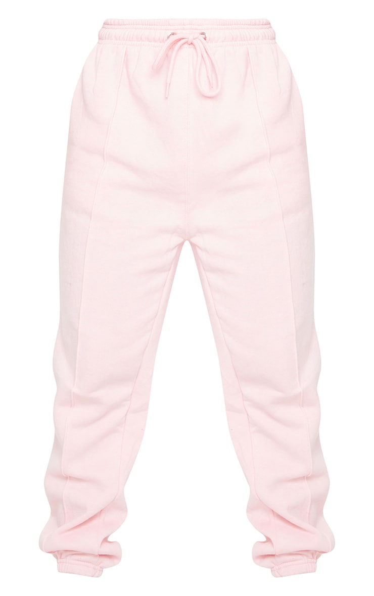 Baby Pink Seam Front Detail Joggers 5