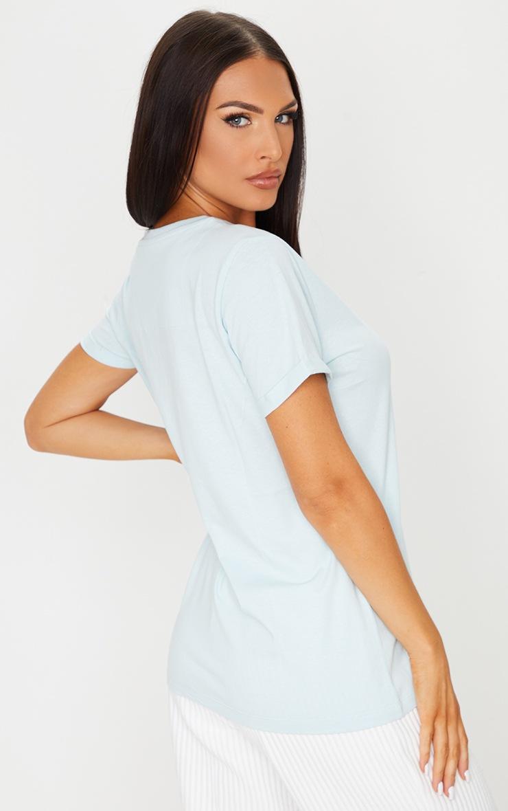 Baby Blue Positive Power Organic Cotton T Shirt 2