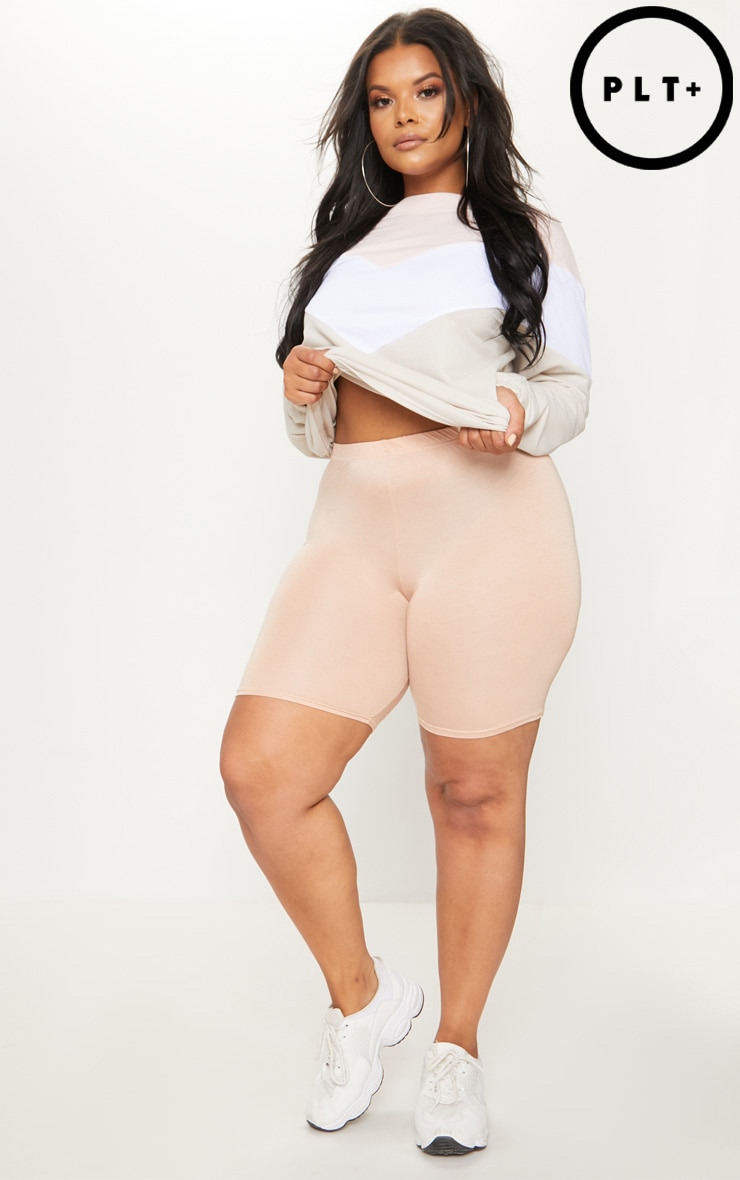 Plus Nude Basic Cycle Shorts 1