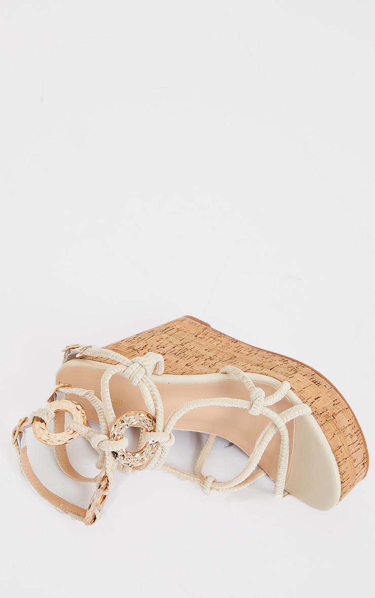 Natural Cork Rope Ring Trim Wedges 4