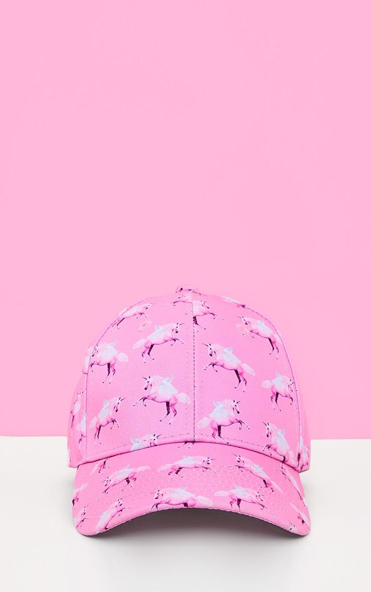PRETTYLITTLETHING Unicorn Pink Baseball Cap 1