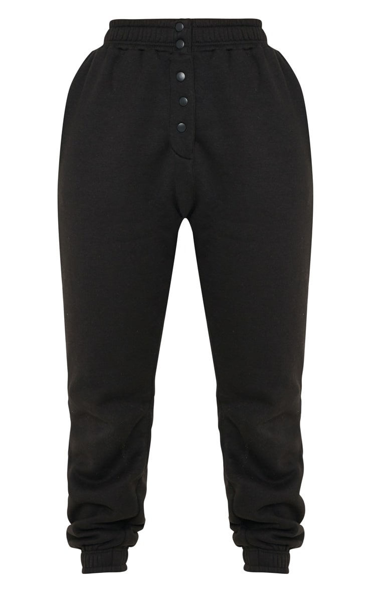 Black Popper Front Track Pants 3