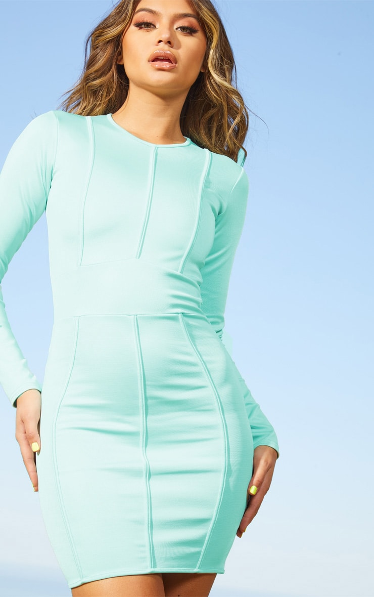 Aqua Second Skin Binding Detail Bodycon Dress 5