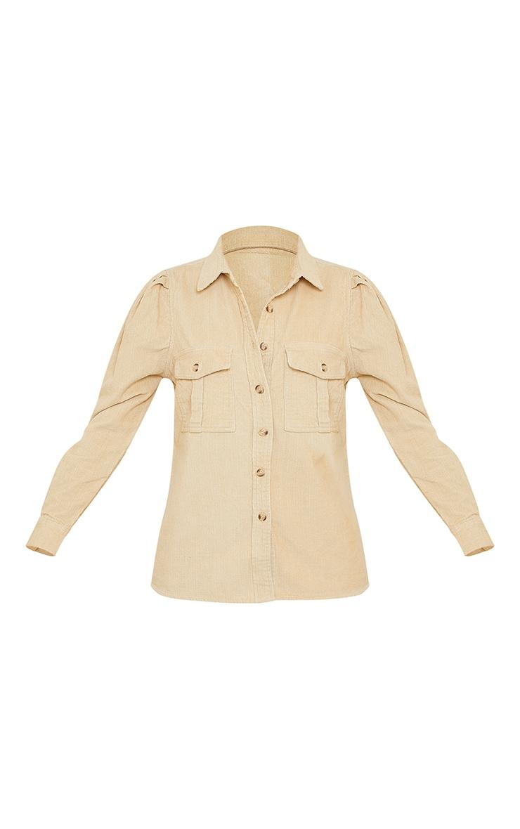Stone Balloon Sleeve Cord Shirt 5