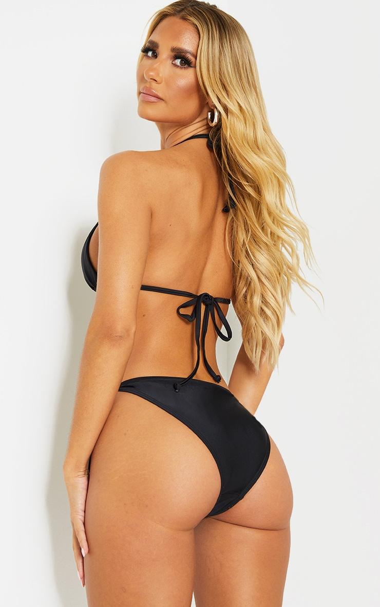 Recycled Mix & Match Black Triangle Bikini Top 2