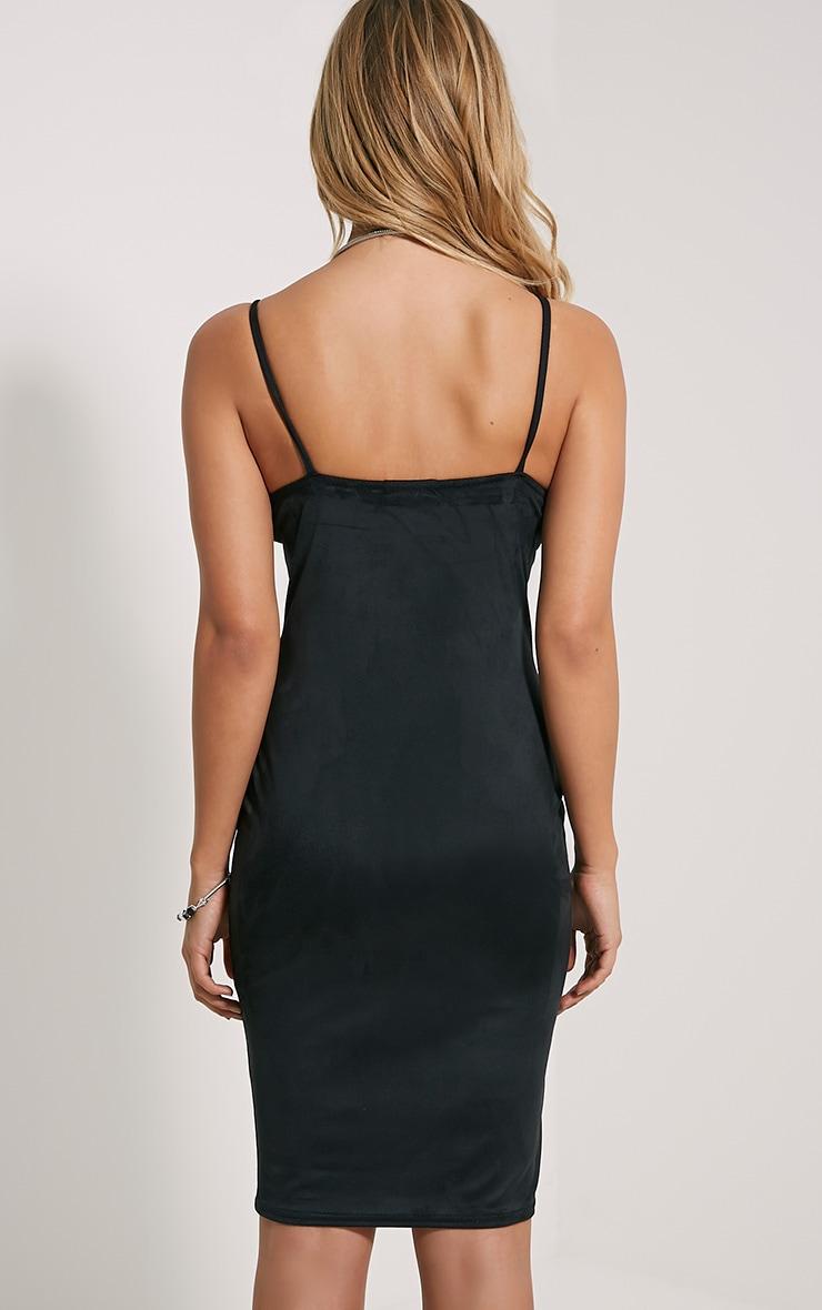Nada Black Faux Suede Dress 2