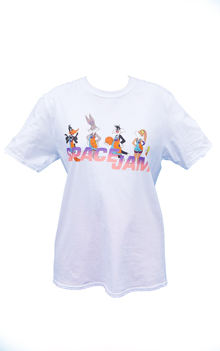 White Space Jam Oversize Printed  T Shirt 5