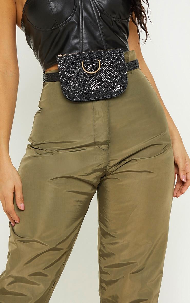 Black Croc Belt Bag 3