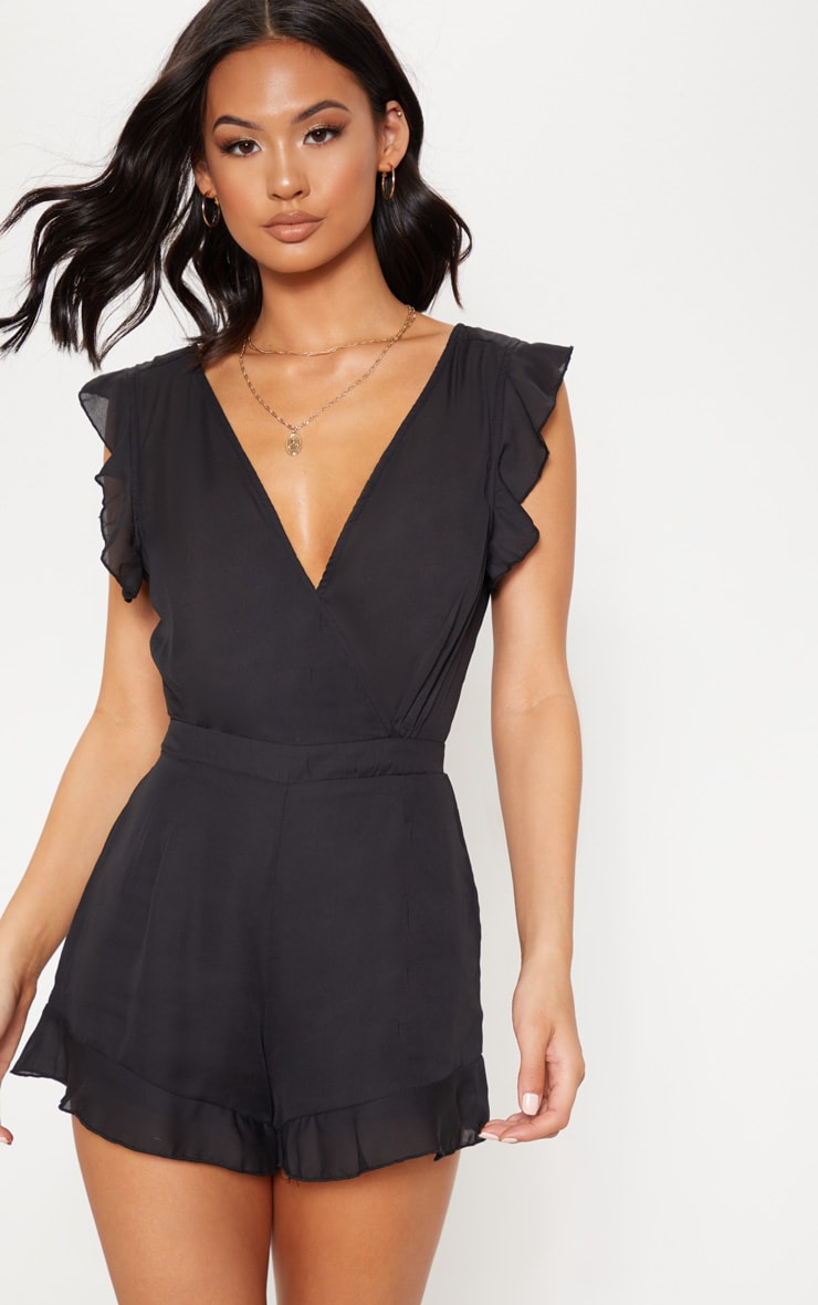 Black Tie Back Playsuit 2