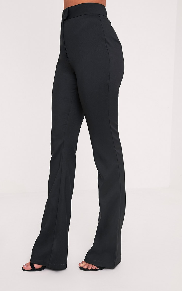 Jessa Black Fit and Flare Trousers 4