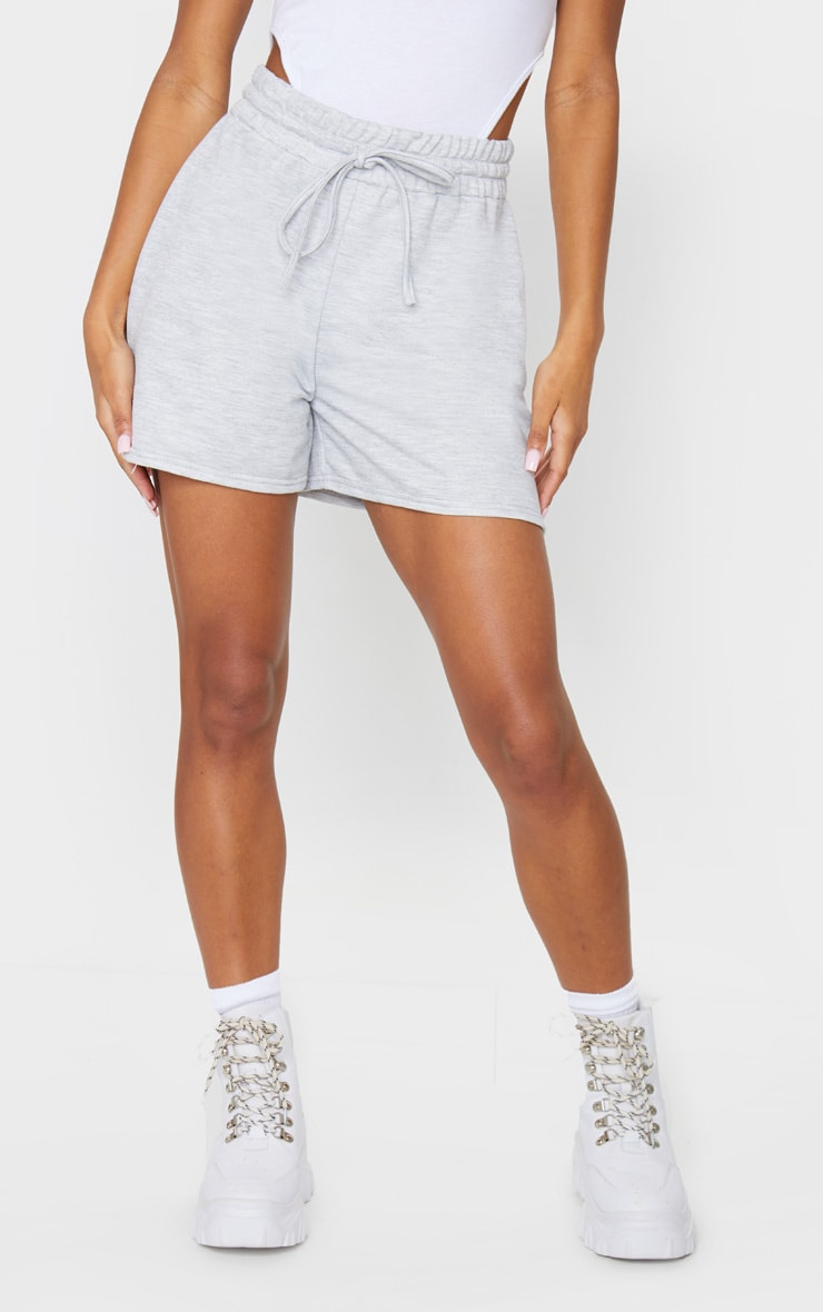 Grey Marl Loungewear Drawstring Shorts 2