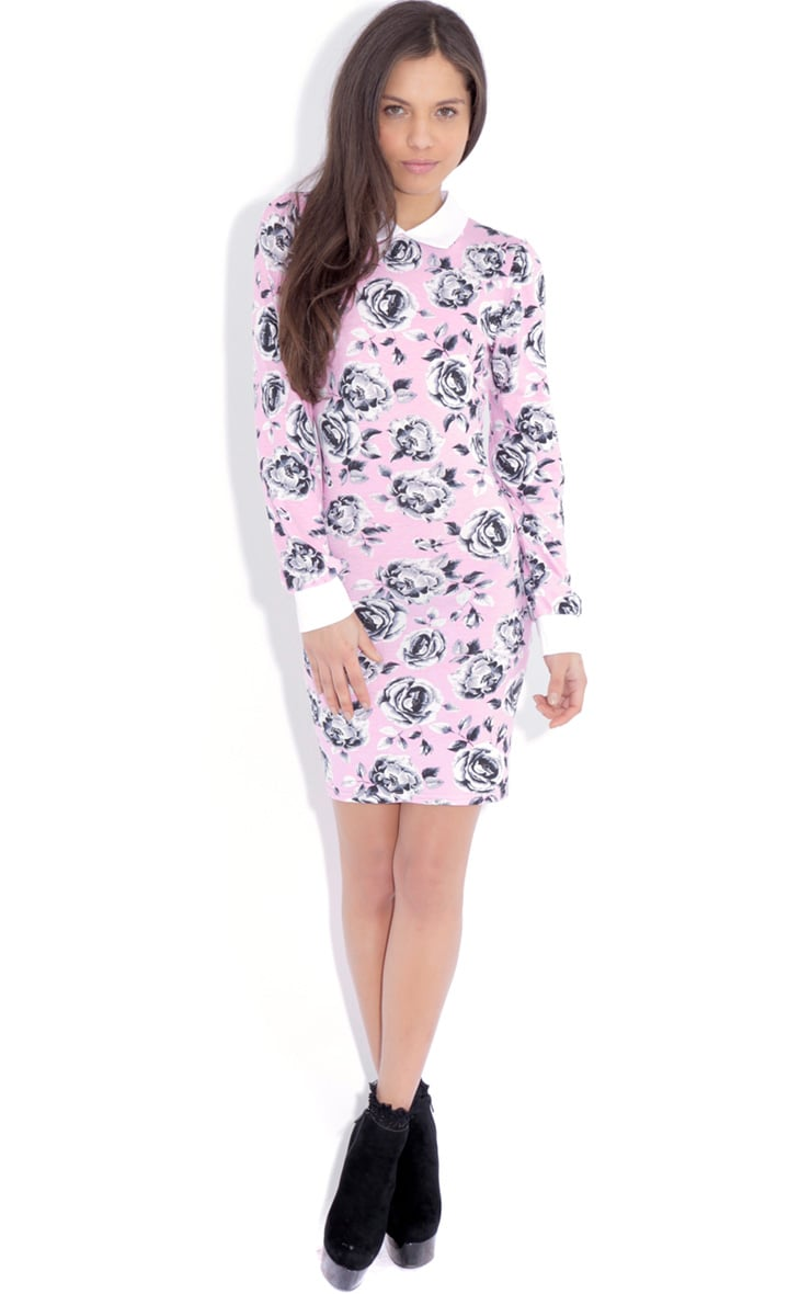 Demi Pink Floral Collar Dress 3