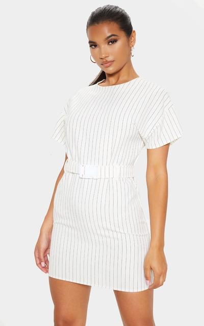 Ecru Belt T Shirt Dress