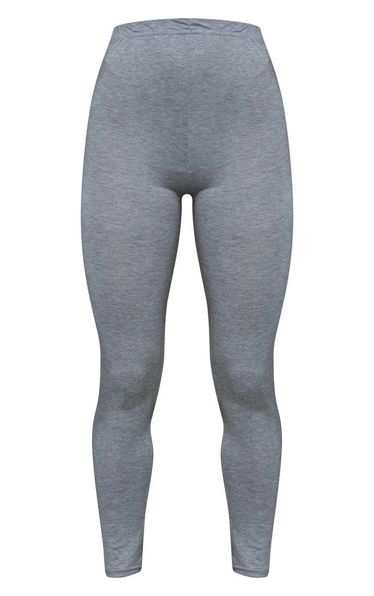 Petite Clarinda Grey Basic Leggings 5