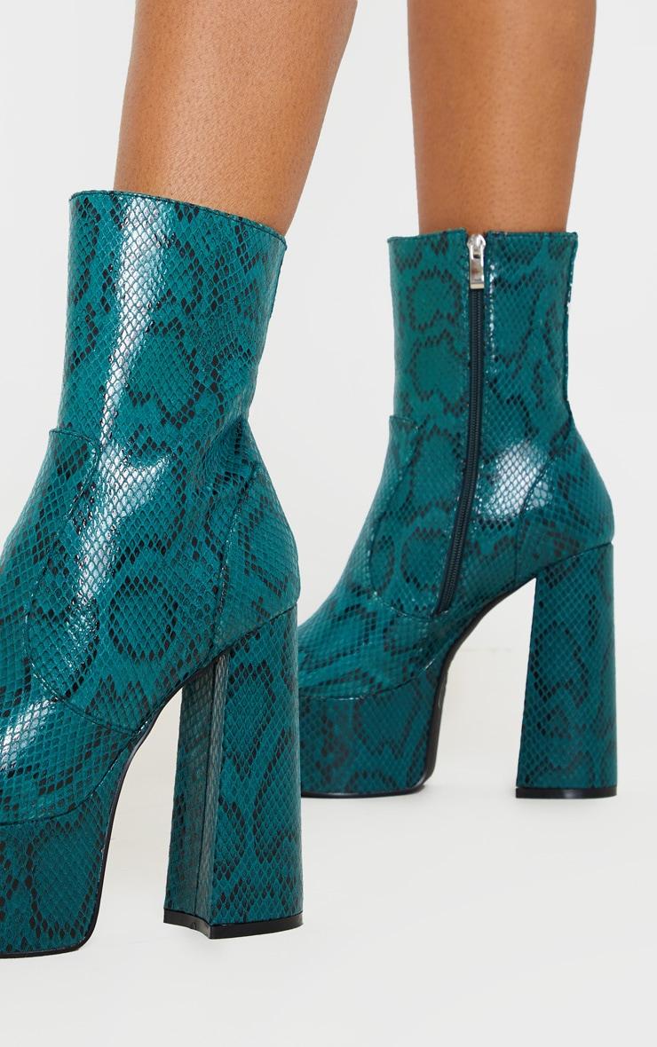 Green Snake Extreme Platform Ankle Boot 1