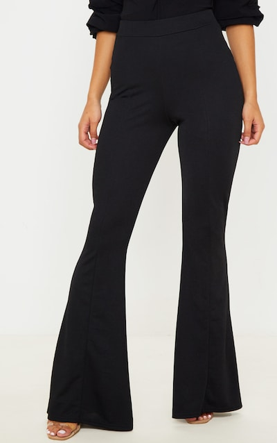 Black Crepe Extreme Flare Trouser