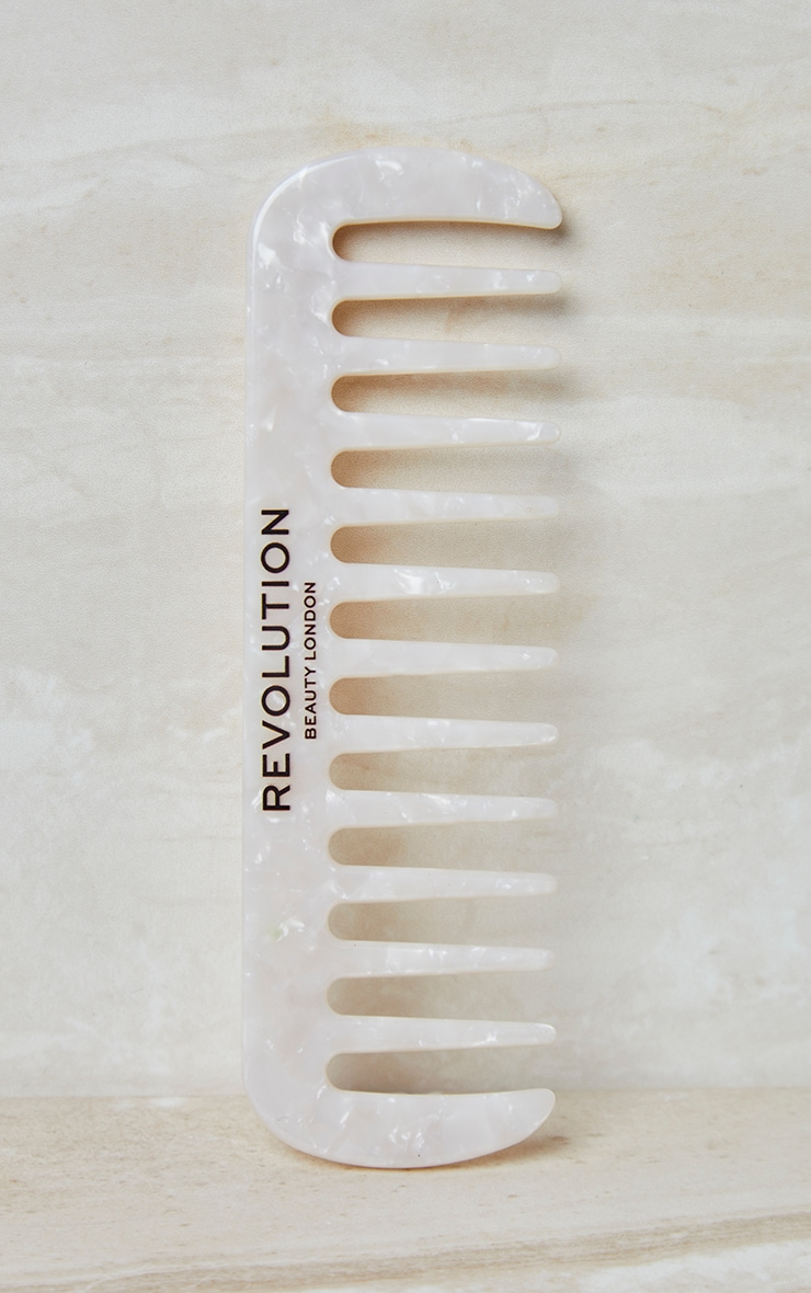 Revolution Haircare Natural Curl Wide Tooth Comb White 1