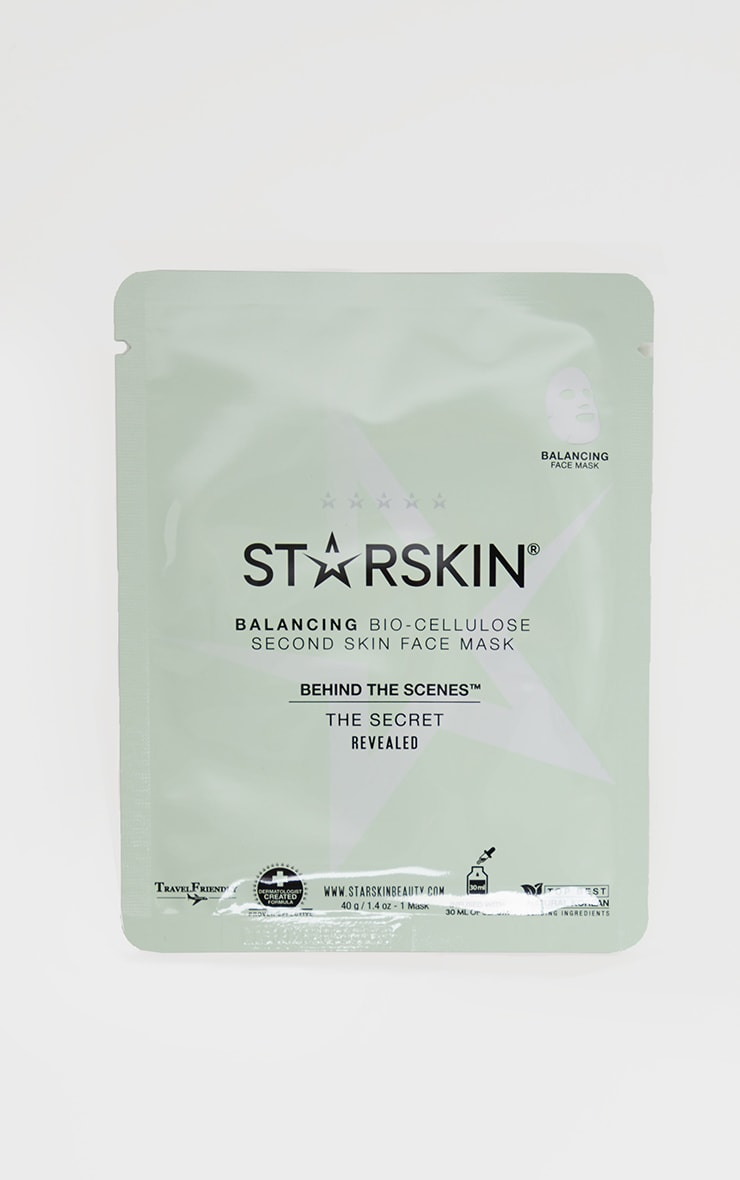 Starskin Behind The Scenes Coconut Bio Cellulose Balancing Face Mask 3