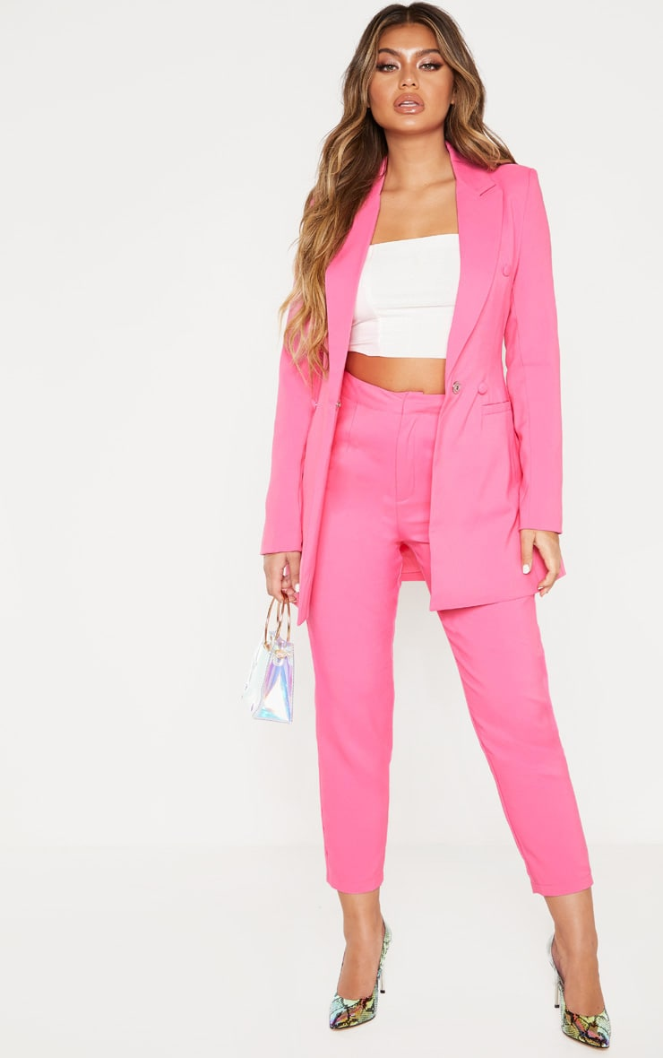 54147614cd Bubblegum Pink Cropped Trouser | Trousers | PrettyLittleThing