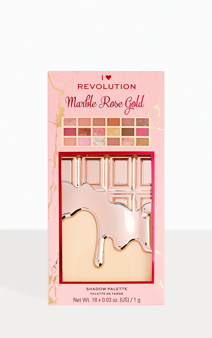 I Heart Revolution Marble Rose Gold Chocolate Palette 3