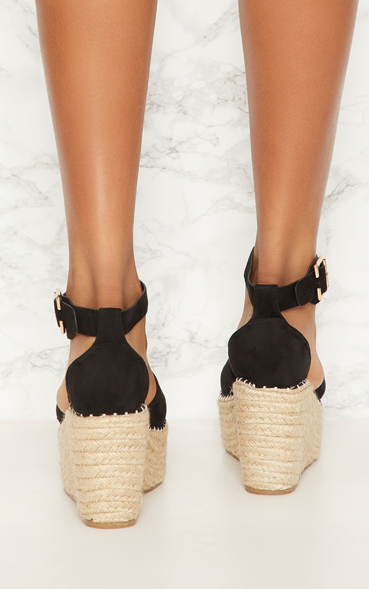 Black Espadrille Wedge 3