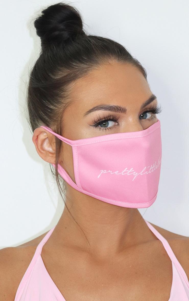 PLT Logo Baby Pink Fashion Mask 2