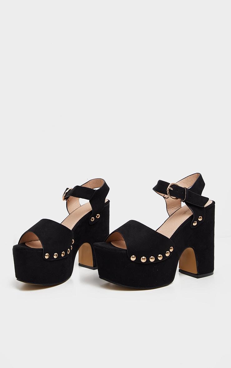Black Studded Platform Sandal 3