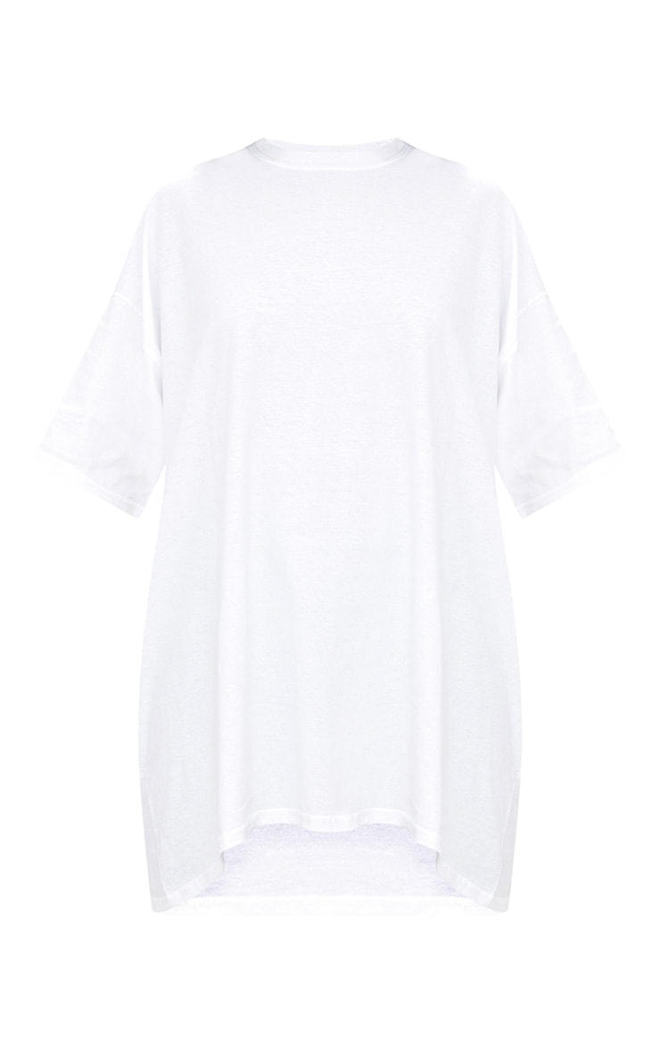 White Oversized Boyfriend T Shirt  3