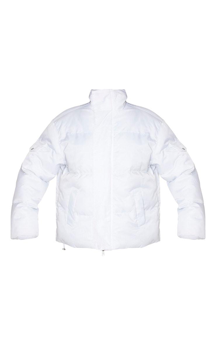 White Extreme Oversized Puffer Jacket 3