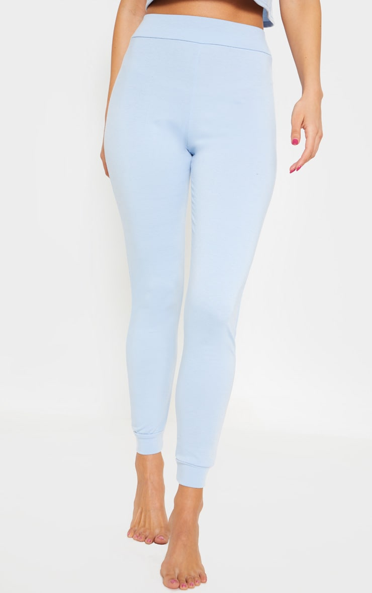 PRETTYLITTLETHING Baby Blue Slim Lounge Jogger 2