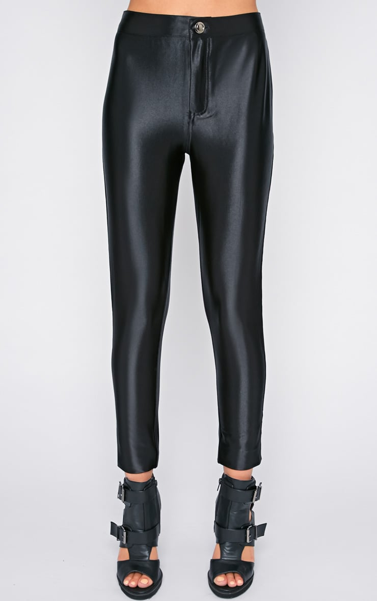 Aarushi Black High Waisted Disco Pants 3