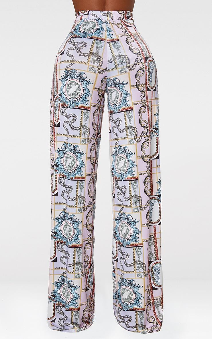 Shape Lilac Scarf Print Wide Leg Trousers 3