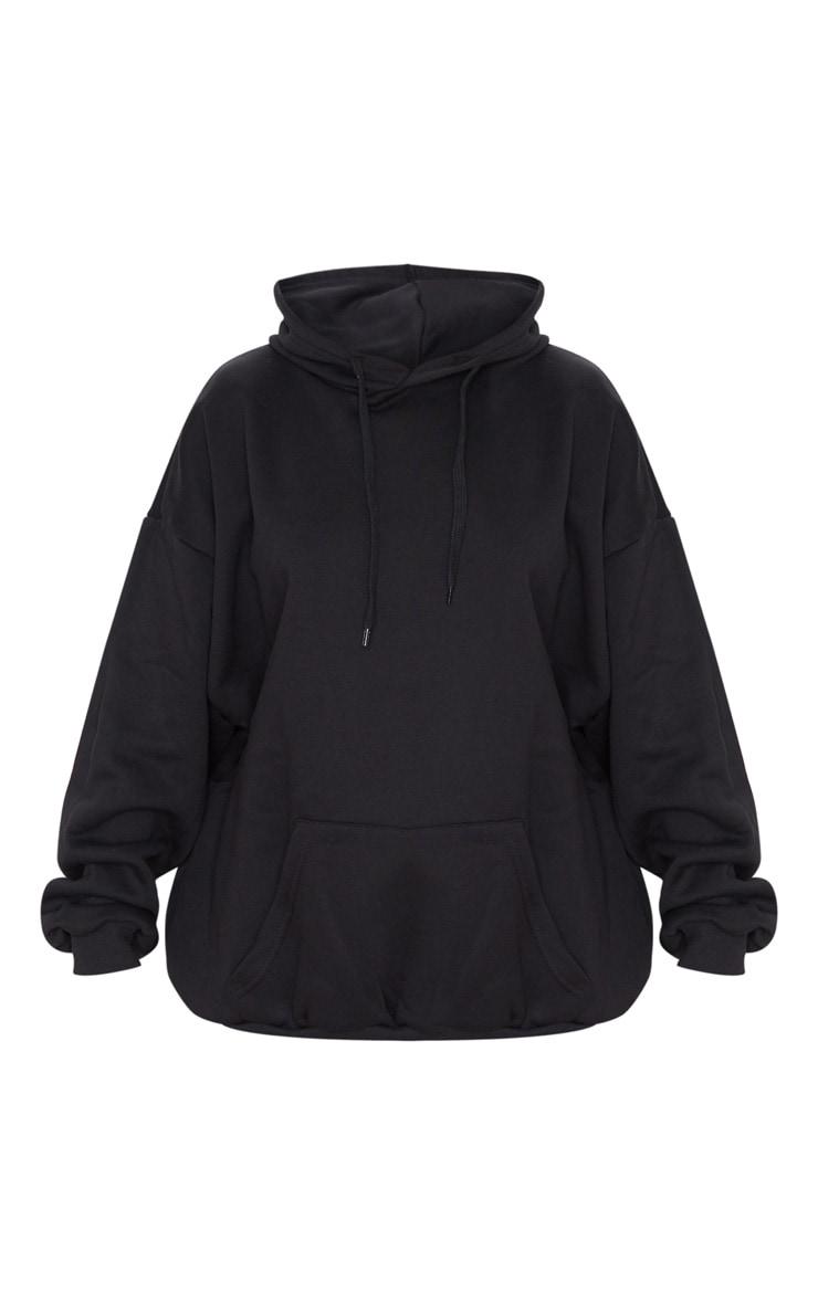 Hoodie oversize noir classique 3