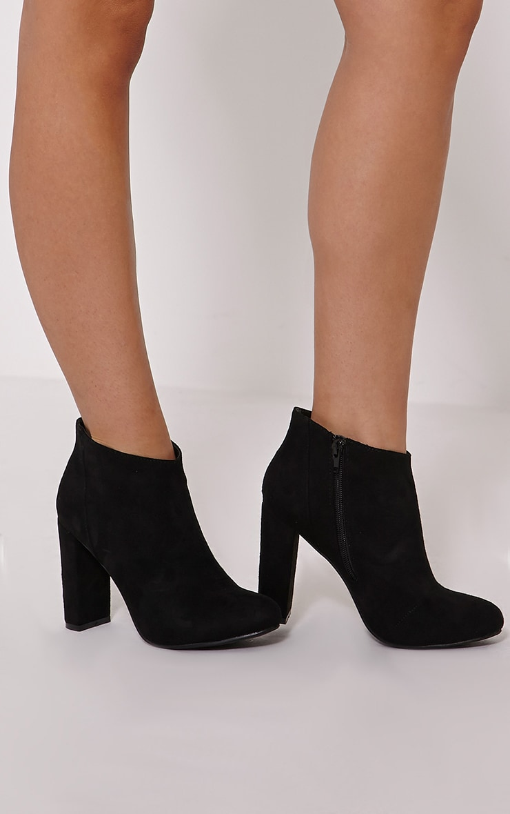 Roux Black Suede Ankle Boots 1