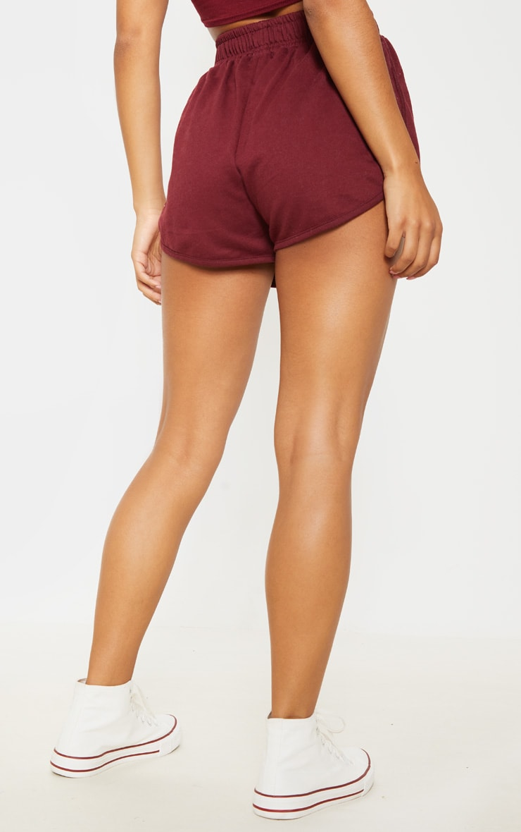 Maroon Sweat Runner Short 4