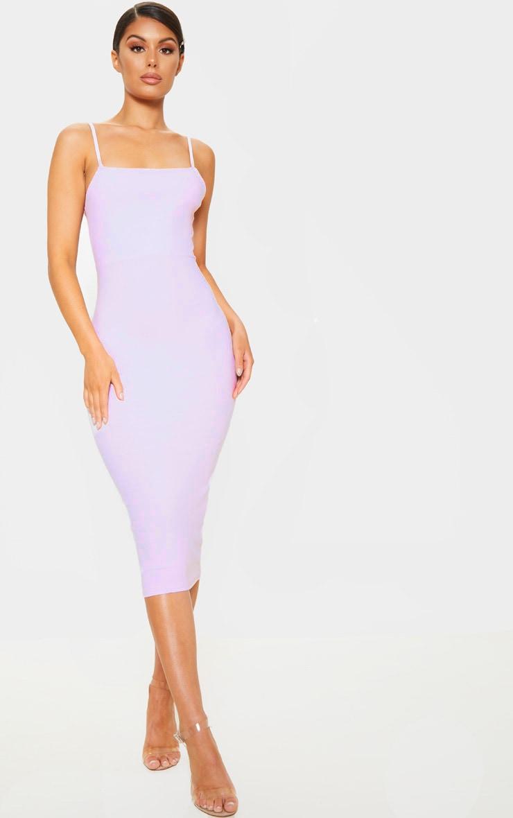 Lilac Strappy Midi Dress 1