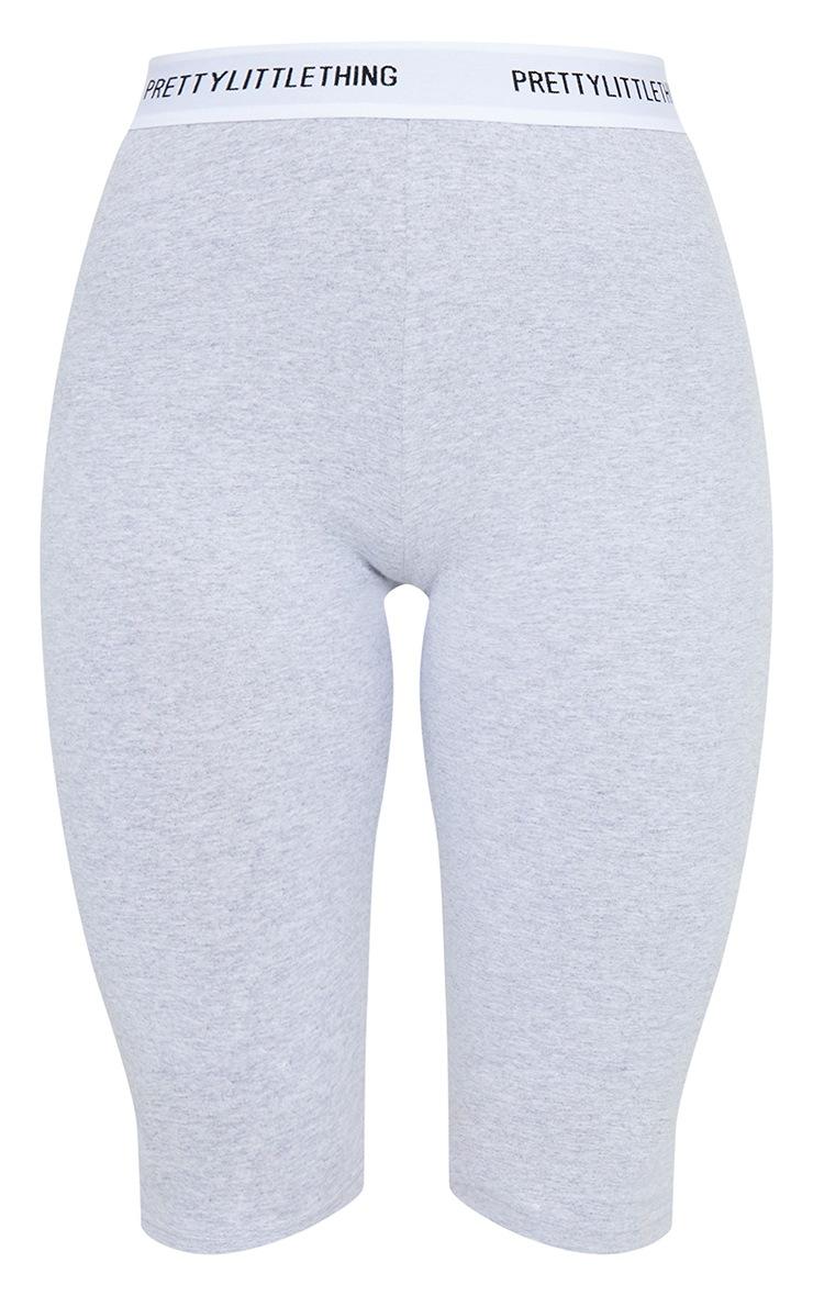 PRETTYLITTLETHING Grey Tape Bike Shorts 6
