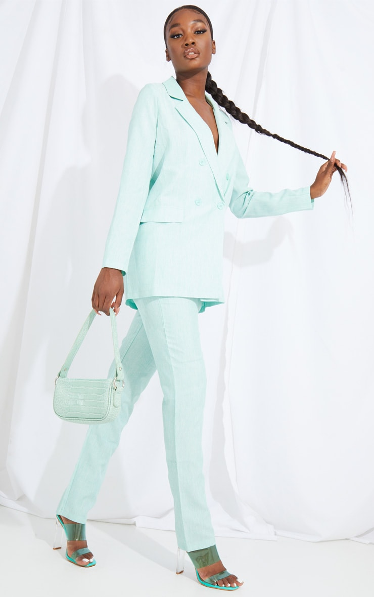 Tall Mint Oversized Wide Leg Suit Pants 1