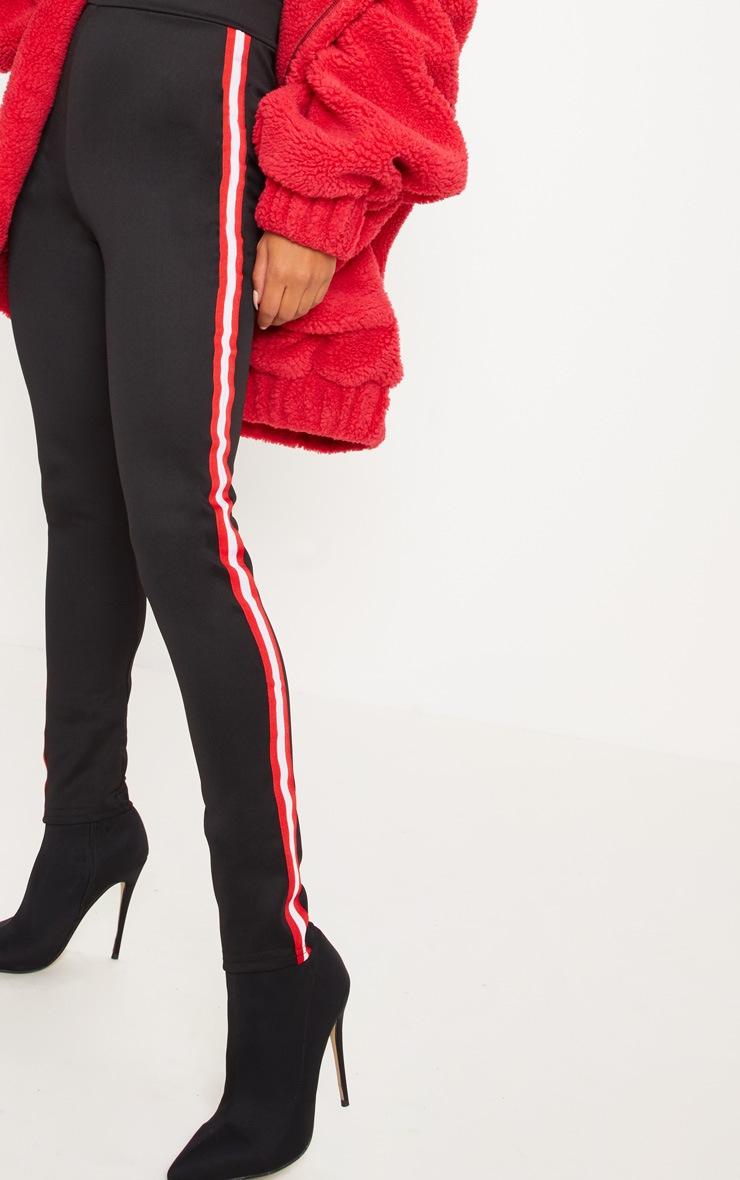 Legging noir à rayures sporty 5