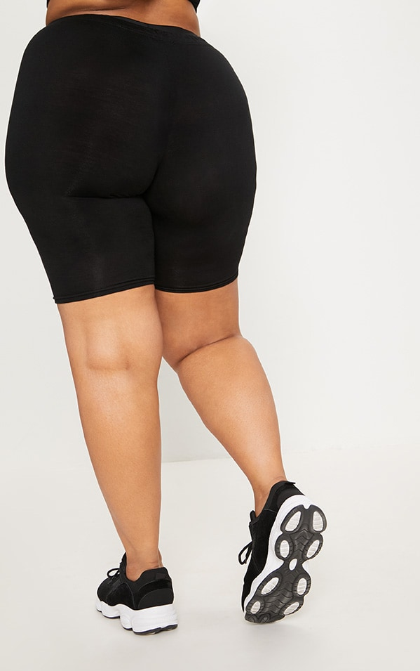 Plus Black Basic Bike Shorts 4