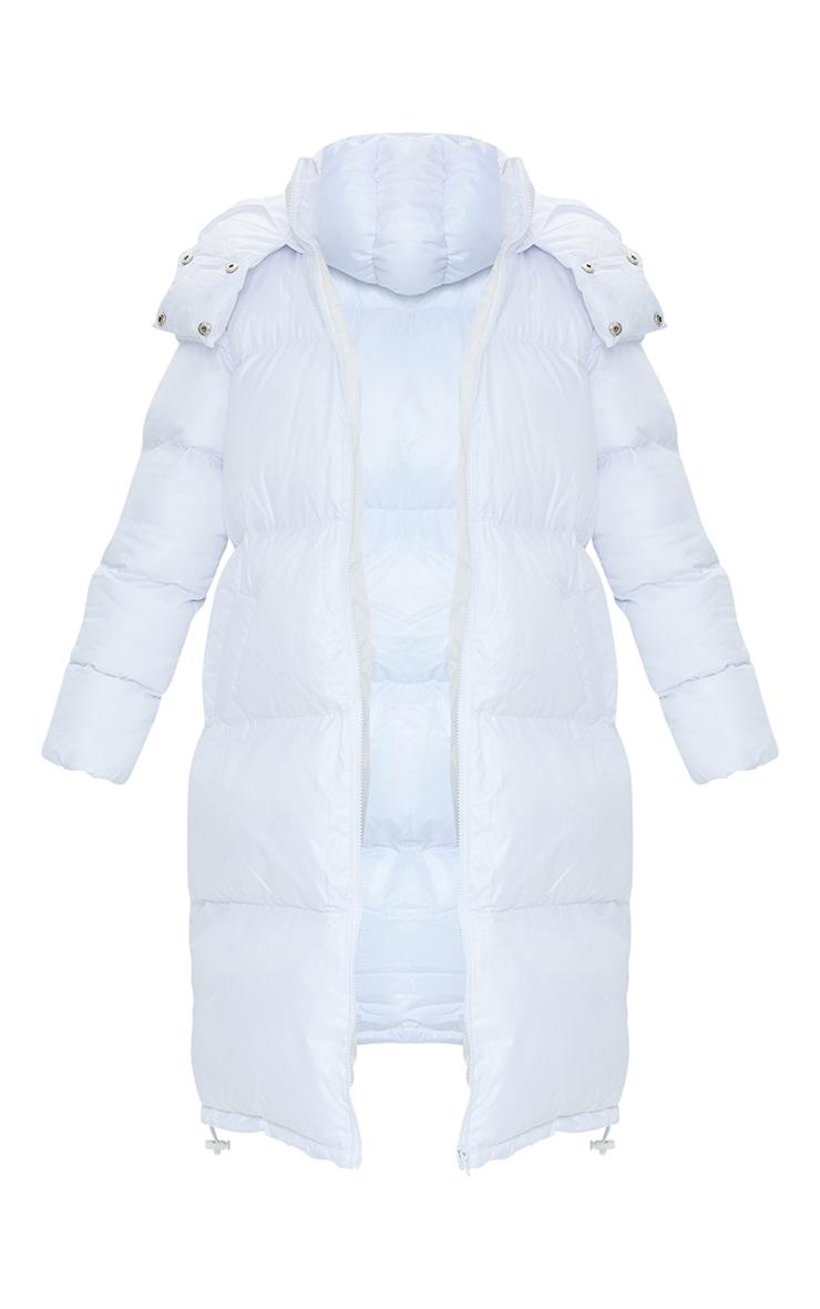 Petite White Maxi Puffer Coat 5