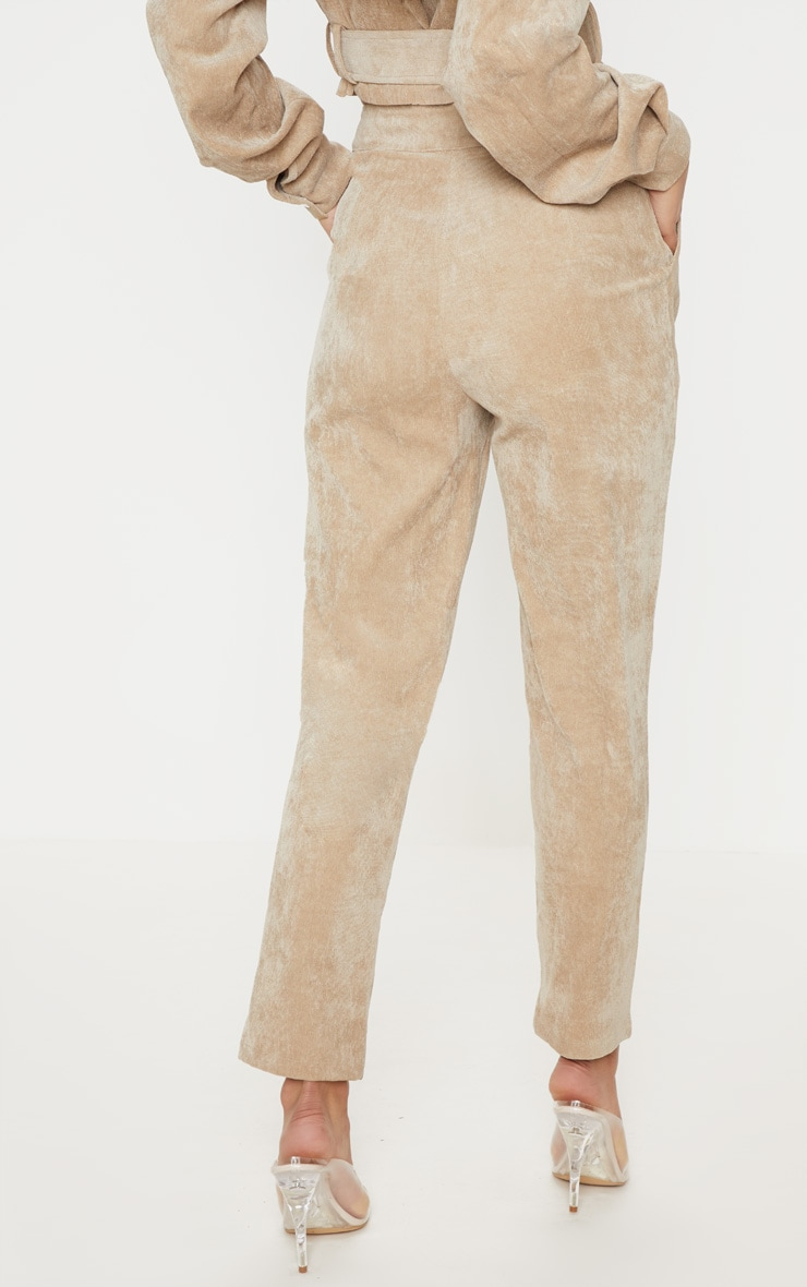 Stone Cord High Waisted Straight Leg Trouser 4