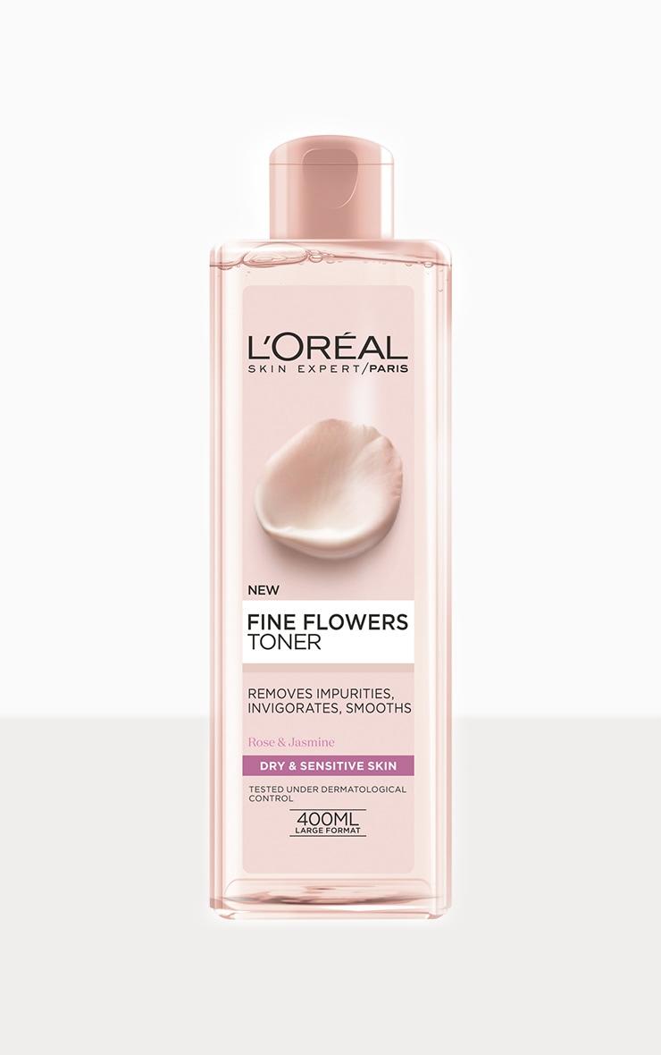 L'Oreal Paris Fine Flowers Toner for Normal to Dry Sensitive Skin 400ml image 1